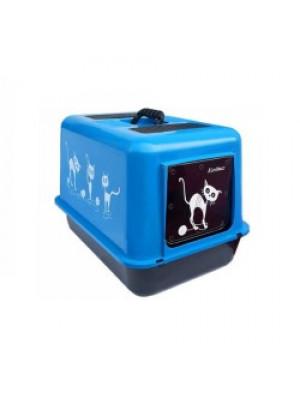Kedi Tuvalet Kabı ve Kumluğu Kapalı WC (Kırılmaz Kapak)