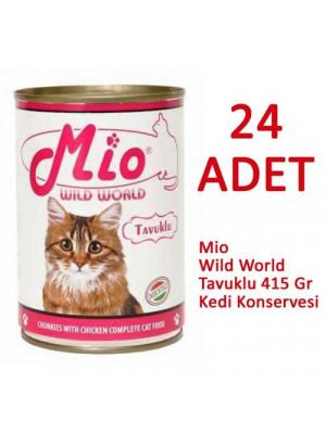 Mio Tavuklu Kedi Konservesi 415 gr. 24 lü
