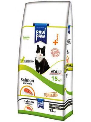 Paw Paw Sterilised Somonlu Kısırlaştırılmış Kedi Maması 15 Kg