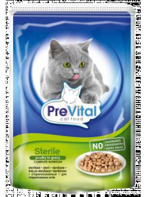 Prevital Sterile Parça Tavuk Etli Soslu Kisirlaştirilmiş Kedi Konservesi 100 Gr