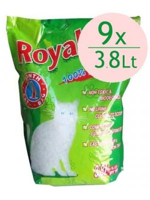 Royal Cat Natural Tozsuz Silika Kedi Kumu 3,8 Lt / 1,4 Kg (9 Adet)
